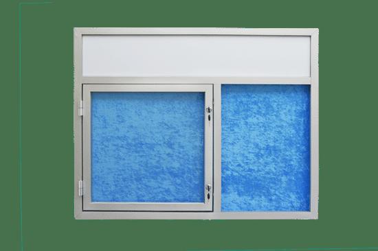Szklana gablota 45-JC3,2F-QQ wewnętrzna na boki