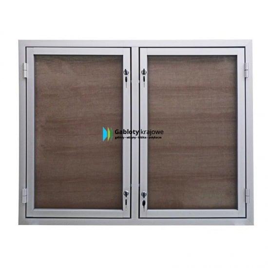 Szklana gablota 47-DS3,2-ZX aluminiowa 2-skrzydłowa