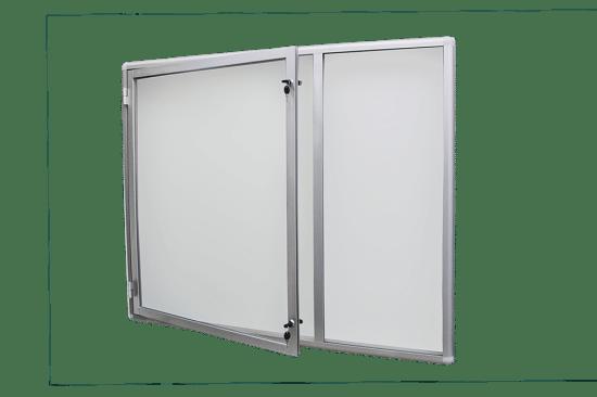 Gablota szklana 47-JCP6-XX aluminiowa jednoskrzydłowa na boki