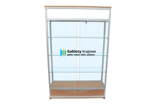 Gablota szklana 47-WS36-QZ aluminiowa stojąca dwuskrzydłowa