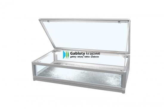 Gablota szklana 4M7G3 wewnętrzna aluminiowa