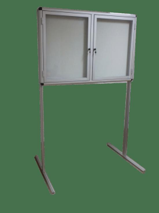 Szklana gablota 4WWJDBG6 jednostronna dwuskrzydłowa uchylana
