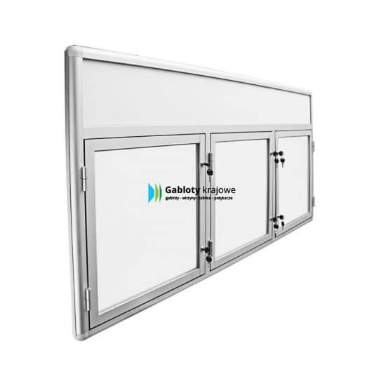 Szklana gablota 50-TS3F-VZ zewnętrzna wisząca jednostronna