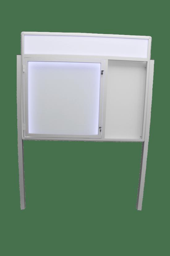 Szklana gablota 50-WJCP6F-ZQ aluminiowa uchylana na boki