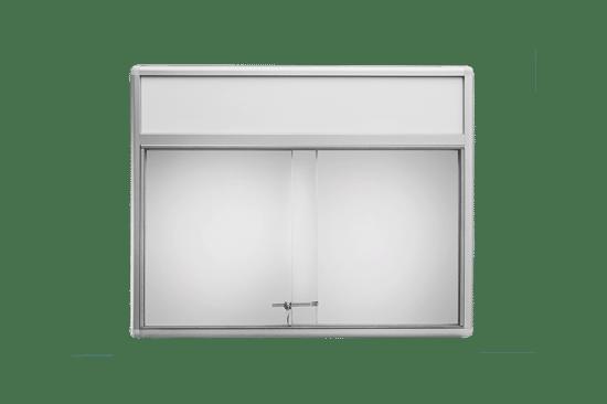 Szklana gablota 54-P3F-QZ wewnętrzna aluminiowa