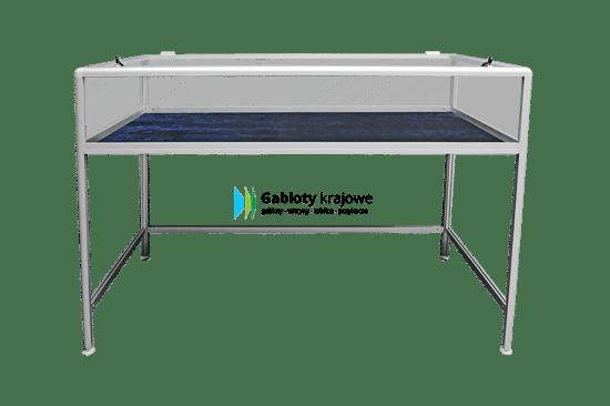 Szklana gablota 56-M1-XX wewnętrzna aluminiowa stojąca