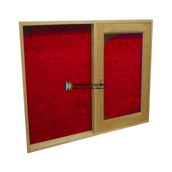 Szklana gablota 65-JCD7-YQ drewniana jednostronna na boki