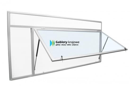 Gablota szklana 6JGCPT6-FG5 aluminiowa jednoskrzydłowa do góry