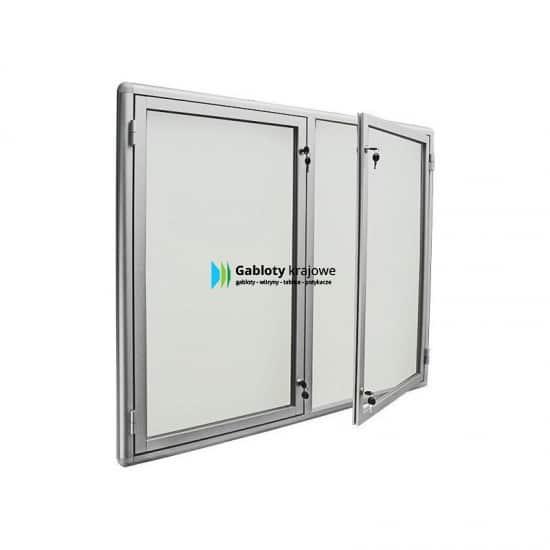 Gablota ze szkła 7DS3G6 aluminiowa dwuskrzydłowa
