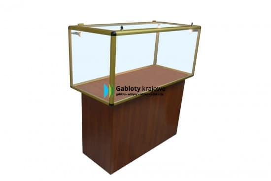 Szklana gablota 7M24G4 jednostronna jednoskrzydłowa uchylna
