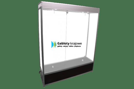 Szklana gablota 85-SDAB3-ZQ wewnętrzna jednostronna dwuskrzydłowa