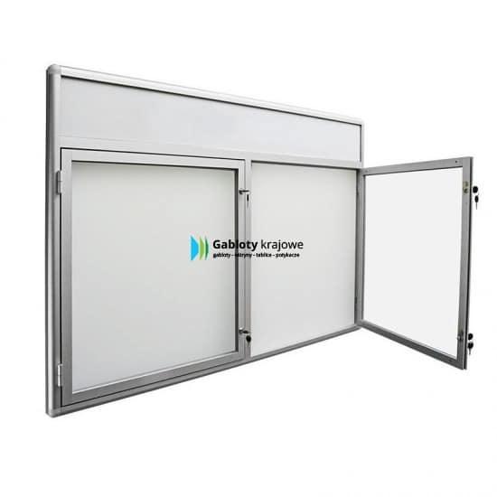 Szklana gablota 8DS3FG7 aluminiowa wisząca na boki