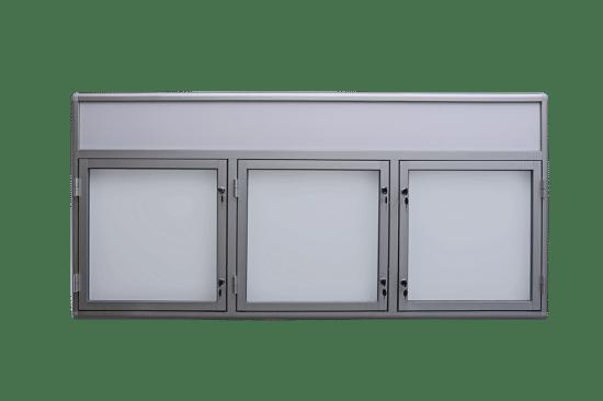 Szklana gablota 8TS3FG6 wewnętrzna aluminiowa na boki