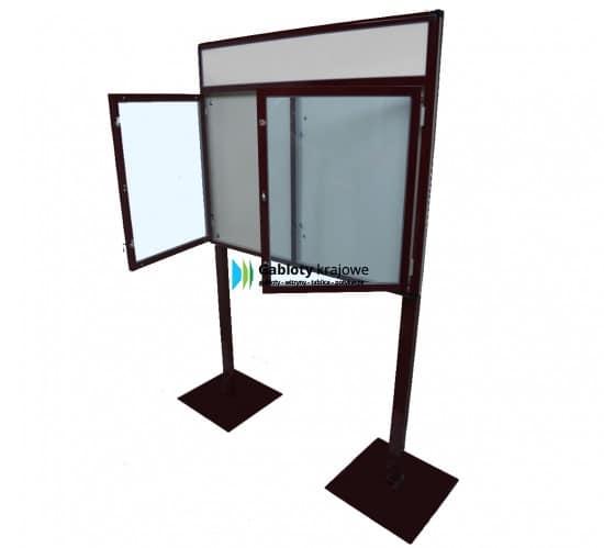 Gablota szklana 8WDSP6FG8 wolnostojąca dwuskrzydłowa uchylna