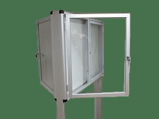 Szklana gablota 8WWDBG1 wewnętrzna aluminiowa 2-skrzydłowa