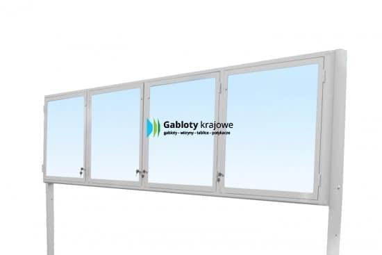 Gablota szklana 95-WDCZB1-VY zewnętrzna stojąca uchylna