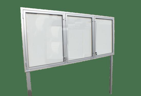 Gablota ze szkła 95-WTS3,2-ZQ zewnętrzna stojąca jednostronna