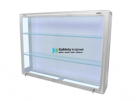 Gablota ze szkła 95-WW1-YY wewnętrzna aluminiowa jednostronna