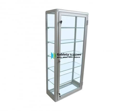 Szklana gablota 9GPJAB3G7 wewnętrzna aluminiowa wisząca