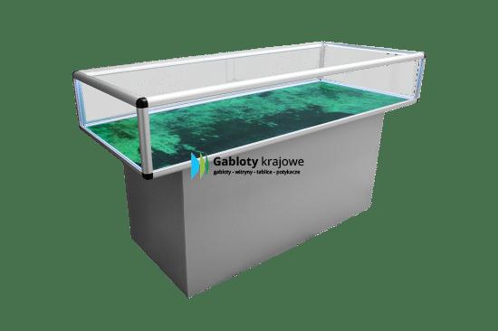 Szklana gablota M19-GK wewnętrzna aluminiowa