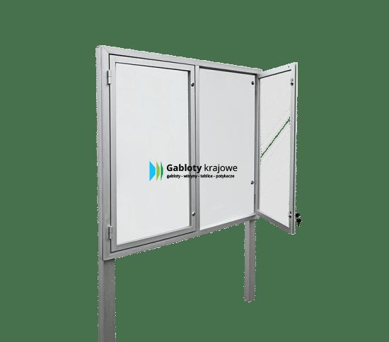 Aluminiowa gablota 01-WDS3,2-ZW zewnętrzna 2-skrzydłowa