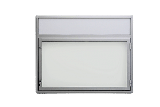 Gablota aluminiowa 04-JB3F-QV wewnętrzna aluminiowa jednostronna