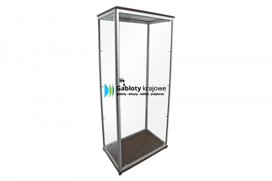 Aluminiowa gablota 10WS5G6 aluminiowa jednoskrzydłowa uchylana