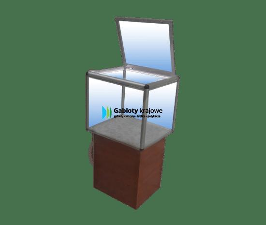 Aluminiowa gablota 31-M10-YY wolnostojąca jednostronna uchylna