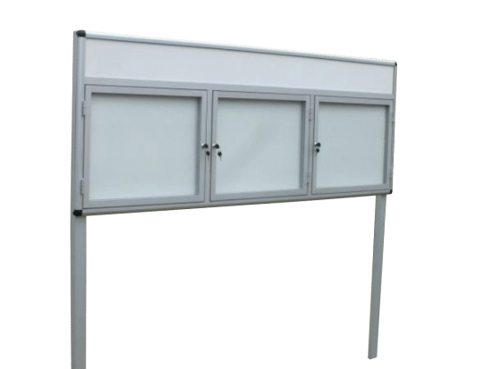 Aluminiowa gablota 4WTS3FG1 zewnętrzna na boki
