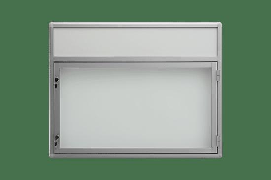 Aluminiowa gablota 58-JBP6F-VQ wisząca jednoskrzydłowa