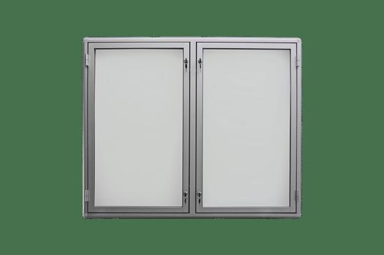 Aluminiowa gablota 6DS3G2 wewnętrzna 2-skrzydłowa uchylna