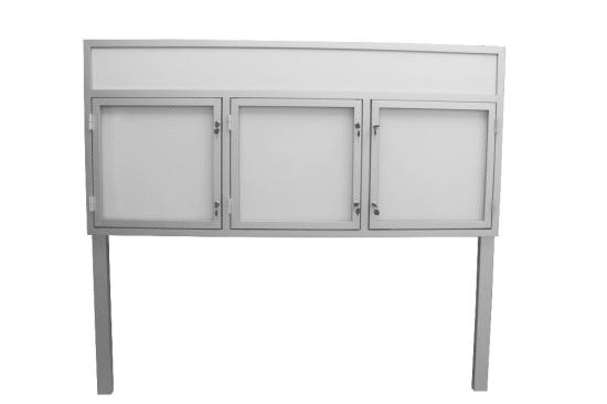 Aluminiowa gablota 6WTS3,2FG3 zewnętrzna aluminiowa 3-skrzydłowa