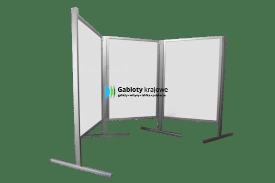 Aluminiowa gablota 12-T4-ZQ parawan wewnętrzna stojąca