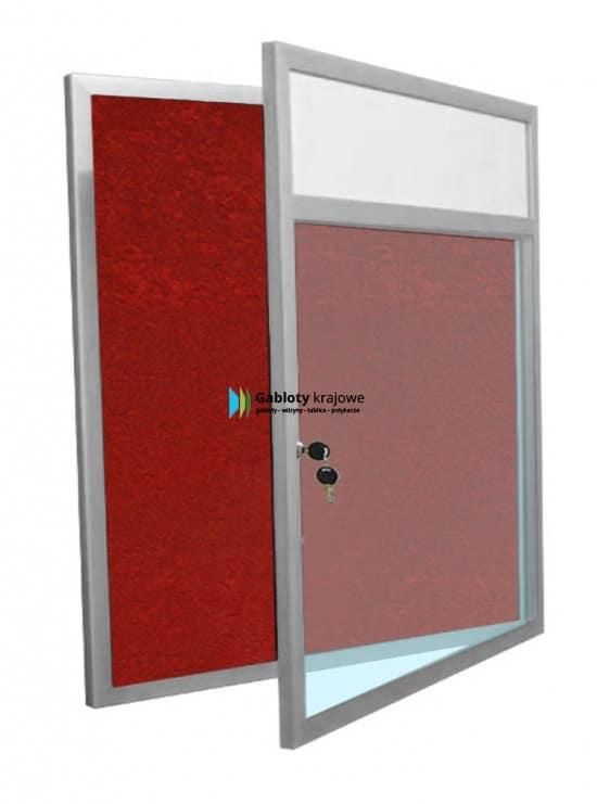 Ogłoszeniowa gablota 25-JB4F-ZQ wewnętrzna aluminiowa jednostronna