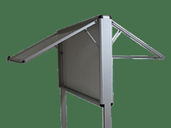 Gablota ogłoszeniowa 6WWDJGG8 aluminiowa dwustronna uchylana