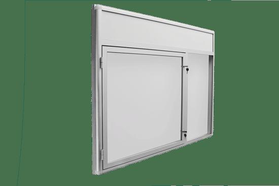 Ogłoszeniowa gablota 9JCP6FG1 aluminiowa uchylna na boki