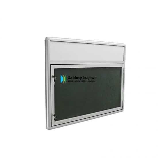 Gablota szklana 00-JB3F-VQ zewnętrzna aluminiowa na boki