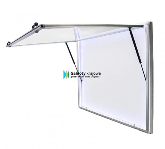 Gablota szklana 02-JGPT6-QX aluminiowa jednostronna uchylna