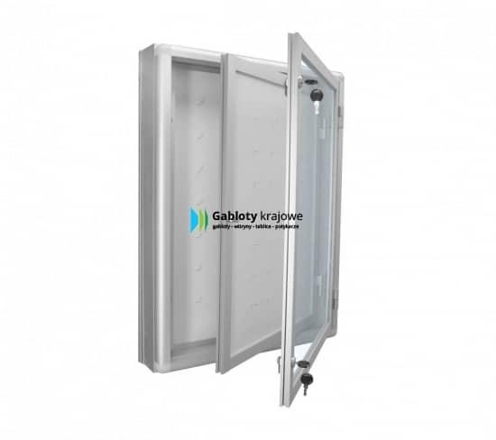 Szklana gablota 02-KA2-VZ aluminiowa jednoskrzydłowa
