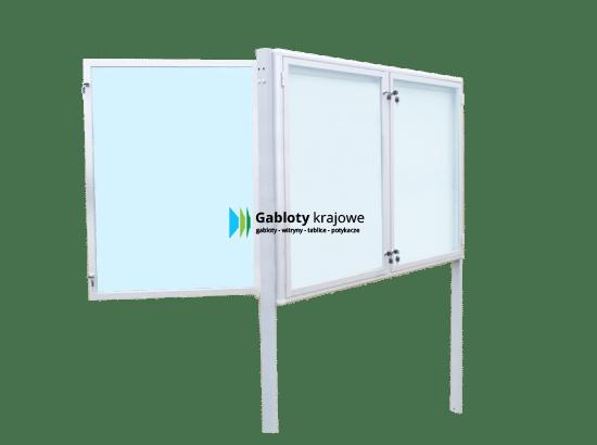Gablota szklana 03-WDDB13-YQ aluminiowa dwustronna 2-skrzydłowa