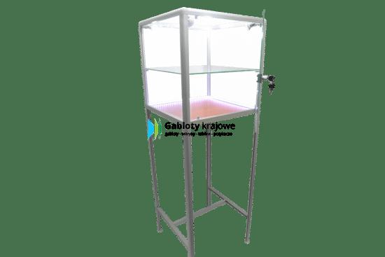Szklana gablota 10WS15G7 aluminiowa jednostronna 1-skrzydłowa