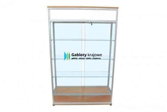 Gablota szklana 1WS36G1 aluminiowa przesuwana na boki