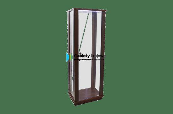 Gablota szklana 20-WS-XX drewniana jednoskrzydłowa uchylana