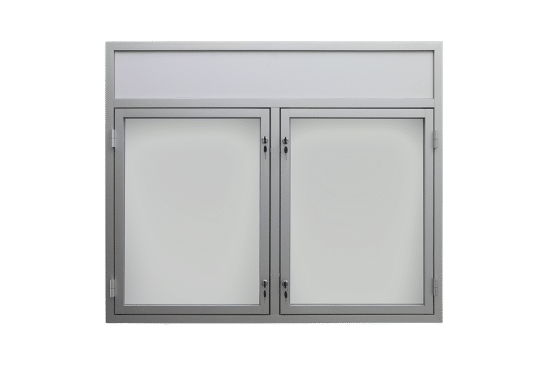 Szklana gablota 22-DS3,2F-XZ jednostronna 2-skrzydłowa uchylana