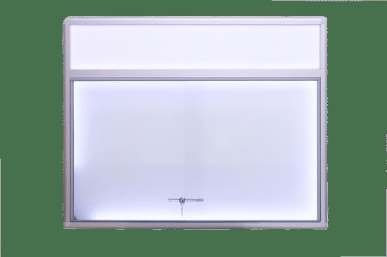 Gablota szklana 25-PH6F-QV jednostronna na boki
