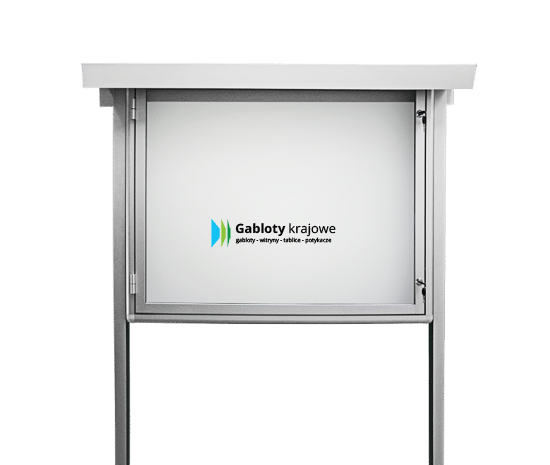 Gablota szklana 25-WJBP6-VX aluminiowa wolnostojąca na boki