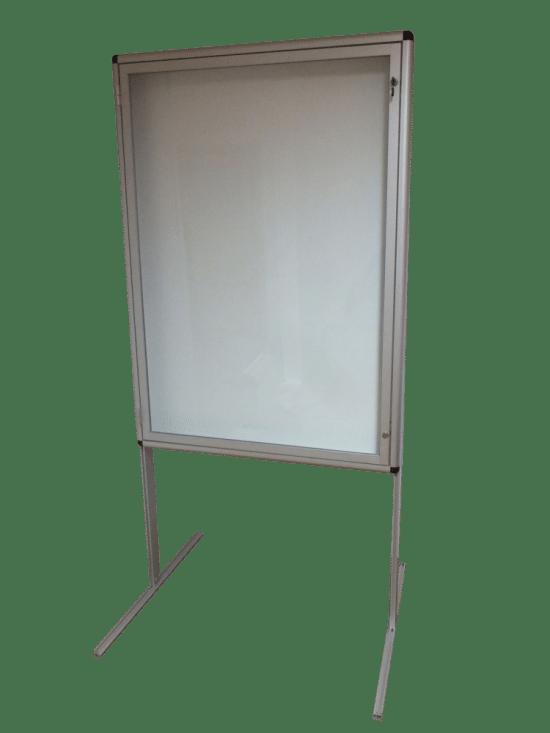 Gablota szklana 28-WWJJAB1-YQ aluminiowa jednostronna 1-skrzydłowa
