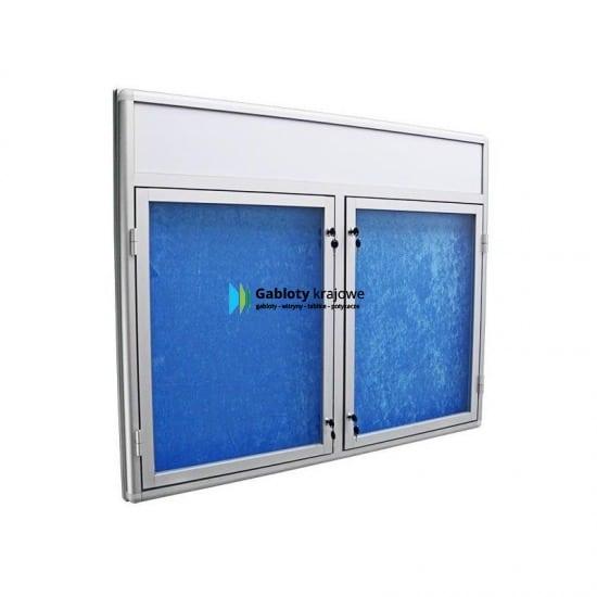 Gablota szklana 2DSP6FG2 zewnętrzna aluminiowa wisząca