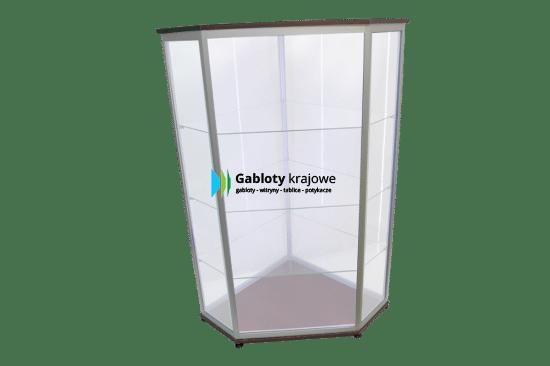 Szklana gablota 32-WS20-VV drewniana uchylna na boki