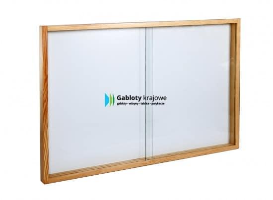 Gablota szklana 33-PD7-QZ drewniana przesuwna
